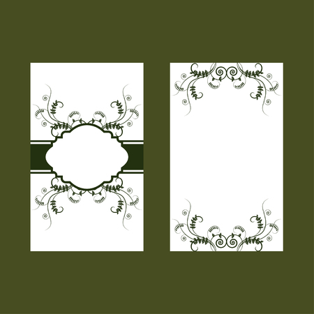 vetch: Green floral fresh design of card with vetch. Design for ecology invitation card, wedding, stickers, healthy card, greeting
