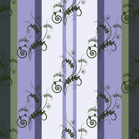 vetch: Seamless green floral fresh pattern with vetch on striped background. Design for ecology, wallpapers, textile, packaging, wedding design, healthy card, greeting