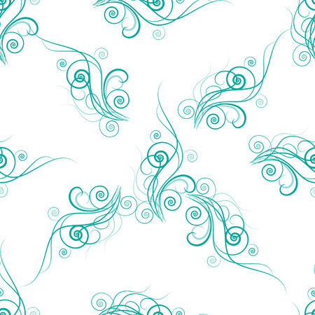 seamless pattern with abstract turquoise floral element. Design for ecology invitation card, wedding, stickers, healthy card, greeting Vetores