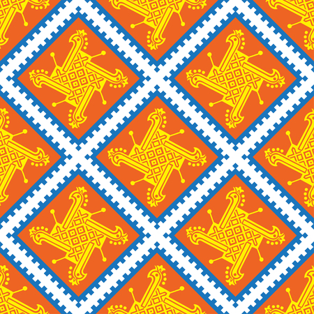 wallpapper: Seamless indian pattern with geometric ornate. Vector tradition ornament background. Boho apparel art, vintage design for fabric, textile, wallpapper, packaging and more.
