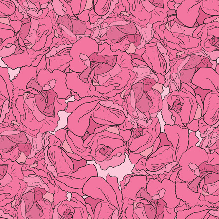 peon: Seamless pattern with pink peonies. Floral design for wallpaper, fabric, card, packaging and decorative textile. Concept for womens day, birthday and other holidays