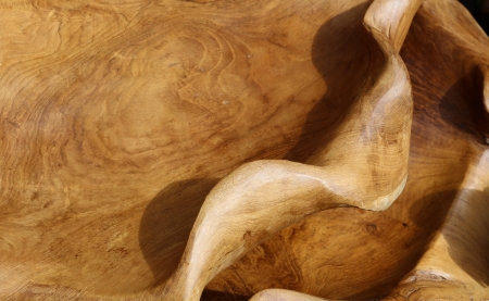 woodgrain: Exotic wood fine shaped and polished