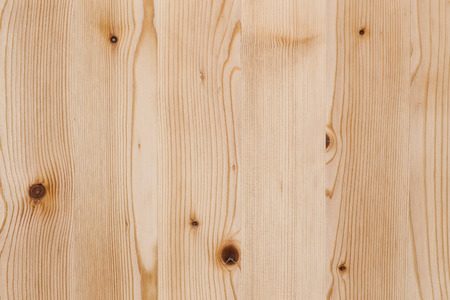 Old light pine grunge wooden board with decorative wood knots background texture surface Stock Photo