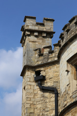 turreted: Turreted tower of the Old County Gaol - Buckingham Museum and Tourist Information Centre England UK