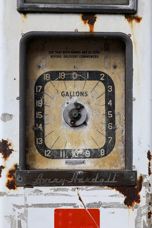 fuelling pump: Old disused petrol filling station Buckingham England Stock Photo