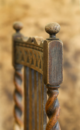 antique chair: Antique Barley Twist Chair Restoration Repair, Sanding and Doweling With Wood Glue