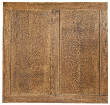 Old sanded oak table top wooden board background with copy space