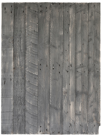 wood floor background: Pallet wood painted background texture old grey with knots and nail holes over white, copy space