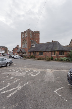 congregational: Winslow, Buckinghamshire, United Kingdom, October 25, 2016: Congregational Church - Independent Chapel on Horn street on grey chilly morning.