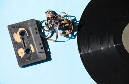 cassettes: vintage vinyl and cassettes