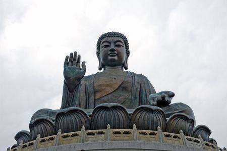 Buddha monument in Hong Kong China