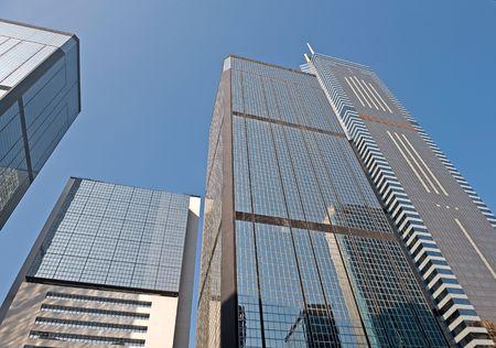Hong Kong China high rise buildings view Stock Photo