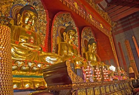 Buddha statues in Baolin Temple in Shunde, Foshan,  Guangdong China