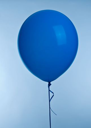 One blue ballon image on blue background Stock Photo