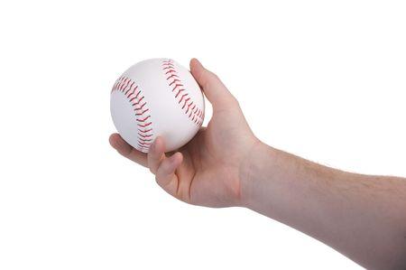 Lanciando un lanciatore di baseball nel corso di un gioco di sport Archivio Fotografico - 5214593