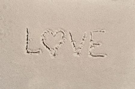 Letters written on sandy beach in a sunny day  photo