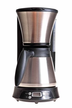 The coffee maker image isolated on white background