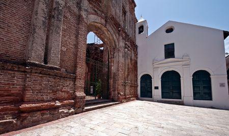 Old church in Casco viejo in Panama city