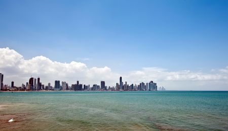 Panama city view at the downtown highrise buildings