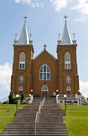 mary's: St. Marys church and the cross in Wilno Ontario Canada