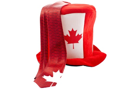 Funny hat and tie Canada Day celebration apparels