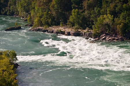 Rapids on the Niagara River, some of the most dangerous down from Niagara Falls