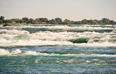 Rapids at Niagara River just before falls