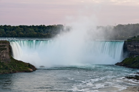niagara falls city: Niagara Falls - Horseshoe Falls, Ontario, Canada early fall Stock Photo