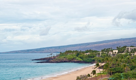 Aerial view at Hapuna Beach in Hawaii Big Island
