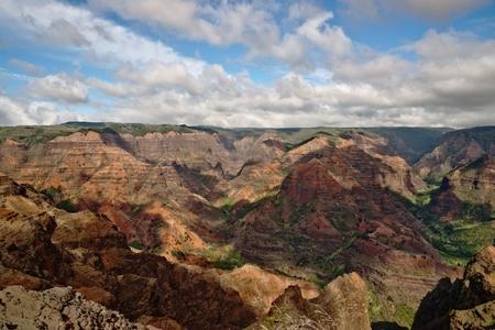 View into the Waimea Canyon on Kauai, Hawaii (the Grand Canyon of the Pacific)