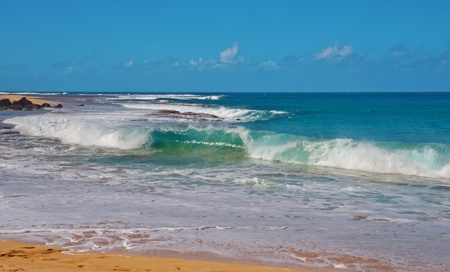 Wave Power Pacific Ocean in Kauai Island Hawaii Stock Photo - 12061558