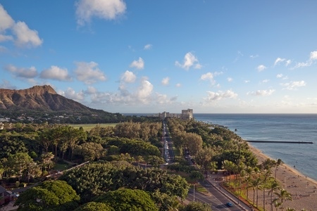Aerial view of Diamond Head Crater and Queen photo