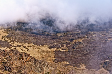 Haleakala Volcano and Crater Maui Hawaii showing surrealistic surface with mountains, lava tubes, rocks Banco de Imagens