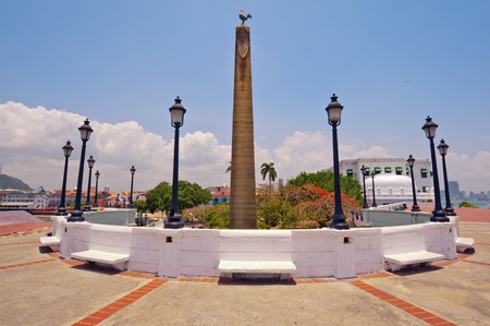 Originally Plaza de Francia was the main square of the city  This plaza is located at the very tip of the peninsula and in the center is an obelisk topped by a rooster, a symbol of the French nation  The 12 slabs of marble outline the history of the Panam Editorial