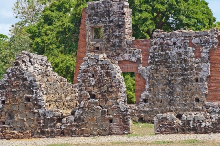 Old Ransacked buildings from the 1500s still stand in Panama City today.