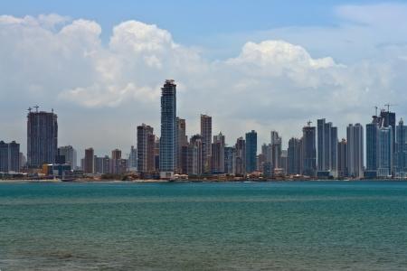 Downtown Panam City Panorama Stock Photo