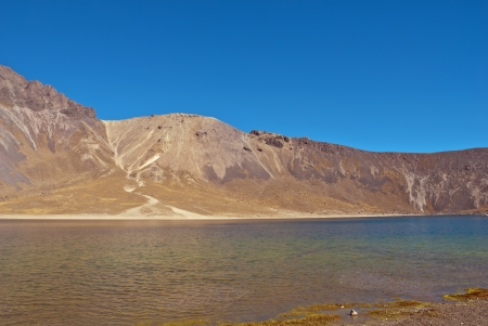 Top of the volcano known as nevado de toluca  Picture taken at 4500 meters over the see level, near Toluca, Mexico
