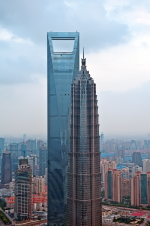 famous industries: Jin Mao Tower and Shanghai World Financial Center Location  Pudong District, Shanghai, China