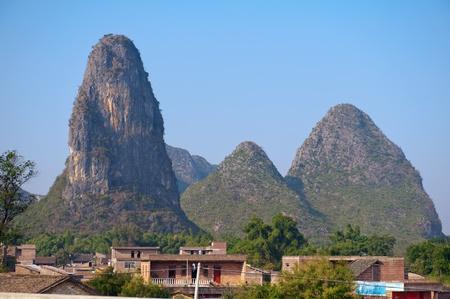 Guilin village   Yangshuo, China, Asia Stock Photo - 13711694