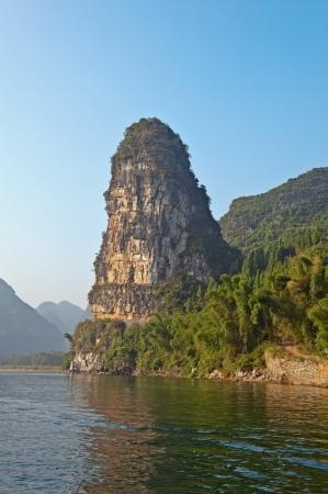 Mountain view when cuize in Li river cruize, Guilin China