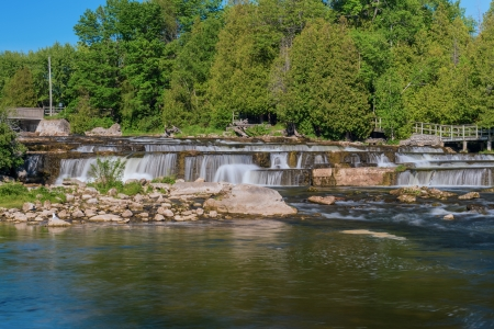 southwestern ontario: Sauble Falls Provincial Park is located in the community of Sauble Falls, town of South Bruce Peninsula, Bruce County in southwestern Ontario, Canada. It is in the lower drainage basin of the Sauble River, which flows into Lake Huron.