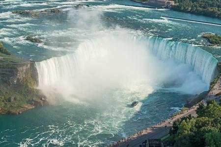 Niagara Falls aerial view from Skylon Tower platforms