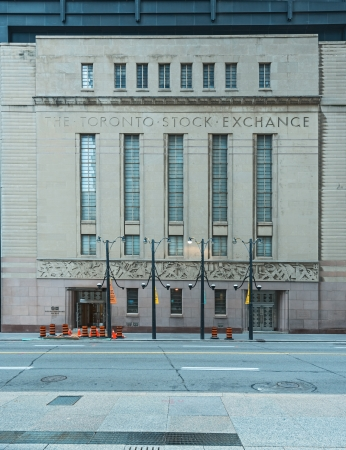 Toronto Stock exchange  Canada   Old office building 1930s Stock Photo - 16205488