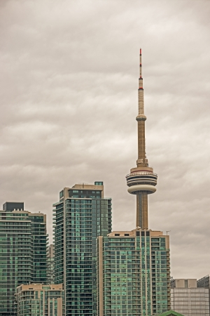 panorama photo, the skyline of downtown Toronto with the  tower at the background  Stock Photo - 16205473