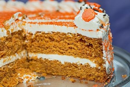 Een stukje van de carrot cake