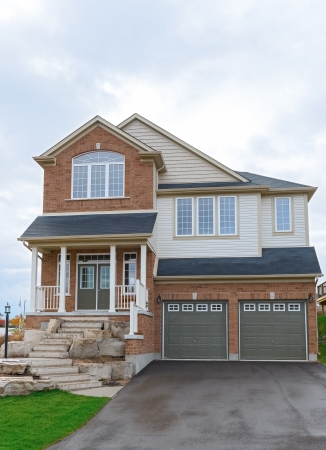 New two storey house in Canada Ontario, Cambridge new houses subdivision