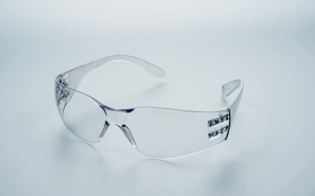 Safety glasses isolated object Stock Photo