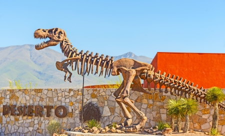 Desert Museum in Saltillo, Mexico  The monument of dinosaur