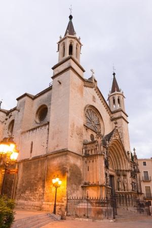 Church Of Santa Maria On Placa De Jaume in Vilafranca del Penedés in Catalonia, Spain