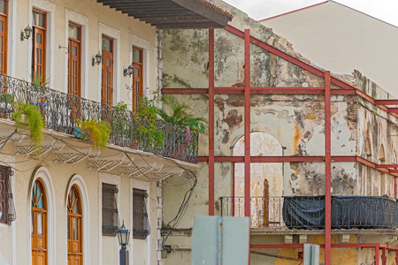 viejo: Old houses in Casco Viejo in Panama city on January 2, 2014 Editorial